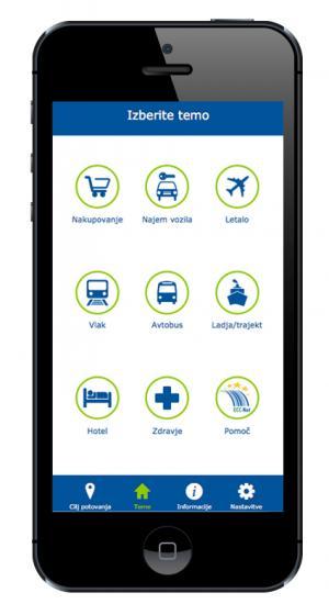 ECC-net mobilna aplikacija: Travel