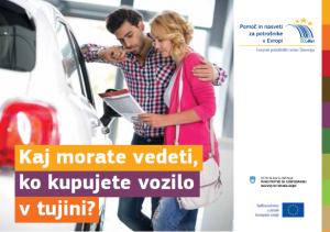 Kaj morate vedeti, ko kupujete vozilo v tujini?